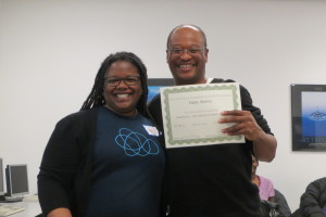 Instructor Joy Dixon and Eddie