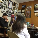 Luis understanding the many programs offered by the Latina Center